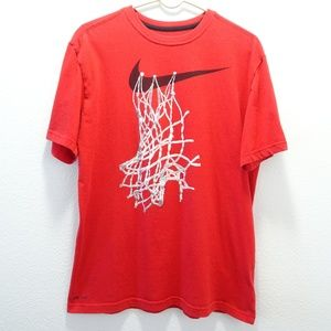 Men's Nike Dri-Fit Graphic Tee Large Red